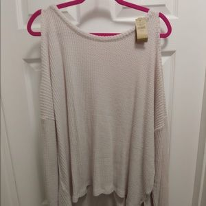 American Eagle Plush Cold Shoulder Sweater